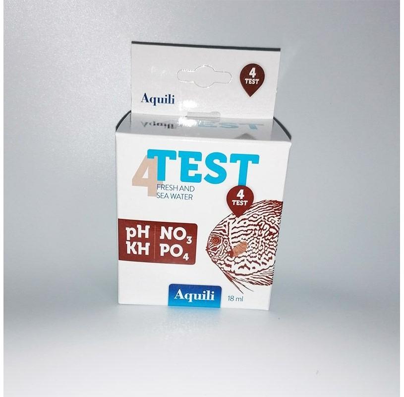 Test 4 en 1 PH - NO3 - KH - PO4 18ml Aquili