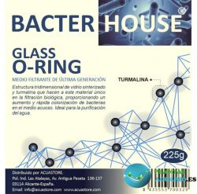 Canutillos Glass O-Ring con turmalina 225g
