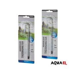 Aquael Termometro Vidrio Colgante Con el incremento de la temperatura, el líquido y el vidrio del termómetro se expanden con diferente coeficiente de expansión, causando que el líquido avance por el tubo capilar. plantas acuario