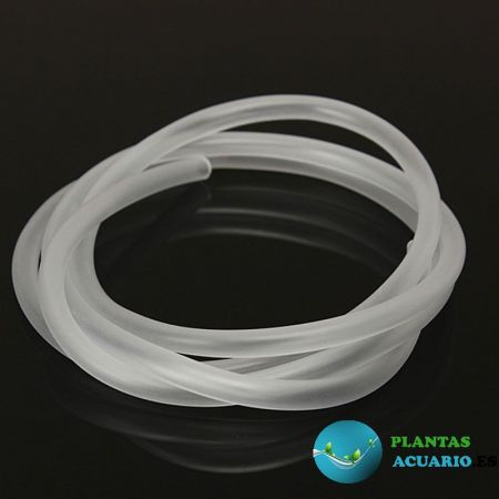 Tubo de Silicona para Aireador o CO2 4mm/6mm , 1METRO