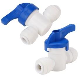 Válvula llave de cierre para osmosis o acuario, para tubos de 1/4 o 4/6mm