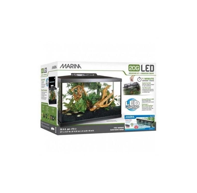 Kit Acuario Led Marina 75 Litros