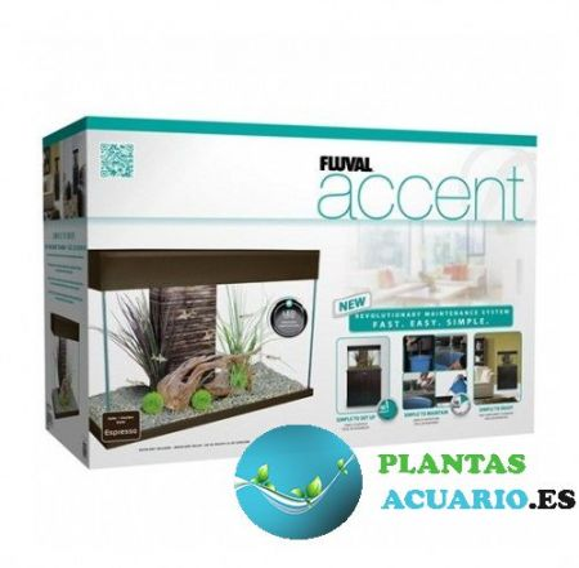 Kit Acuario con Mesa Fluval Accent 95 Litros