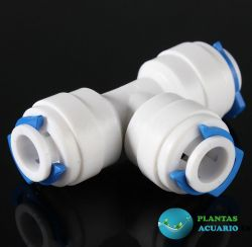 Conector en T para osmosis o acuario, para tubos de 1/4 o 4/6mm